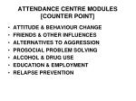 attendance centre modules counter point