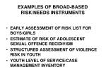 examples of broad based risk needs instruments
