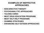 examples of ineffective approaches