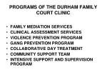 programs of the durham family court clinic