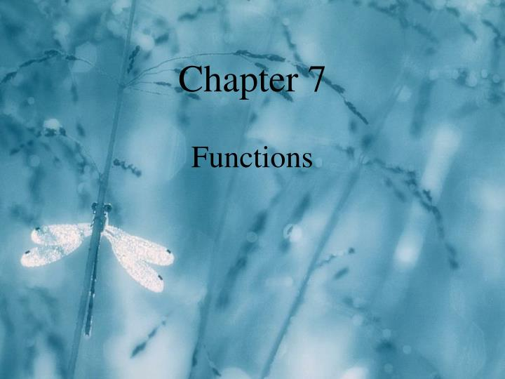 chapter 7 functions n.