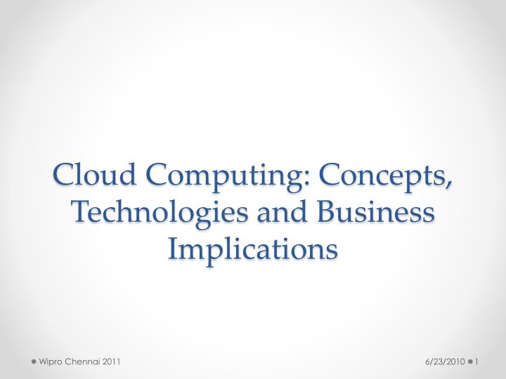 cloud computing concepts technologies and business implications n.