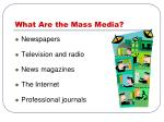 what are the mass media