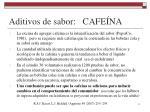 aditivos de sabor cafe na2