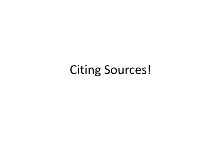 citing sources n.