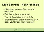 data sources heart of tools