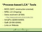 process based lca tools