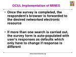 ocul implementation of mines