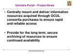 scholars portal project goals