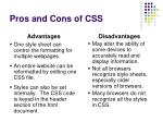 pros and cons of css