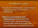 an efficient system