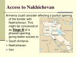 access to nakhichevan