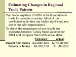 estimating changes in regional trade pattern1