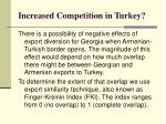 increased competition in turkey