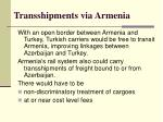 transshipments via armenia