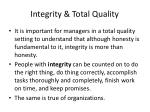 integrity total quality