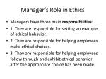 manager s role in ethics