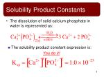 solubility product constants5