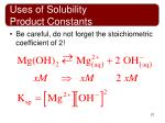 uses of solubility product constants5