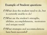 example of student questions