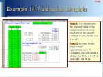example 14 7 using the template