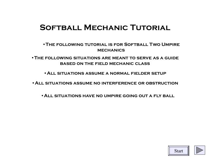 softball mechanic tutorial n.