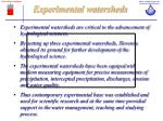 experimental watersheds