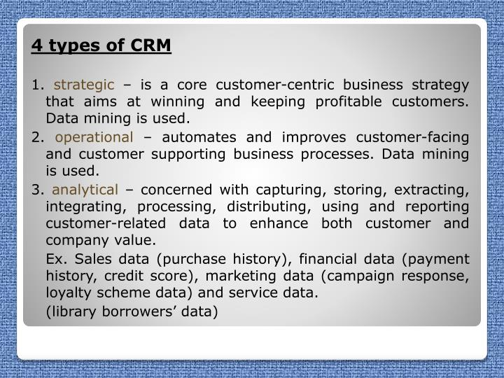 4 types of CRM