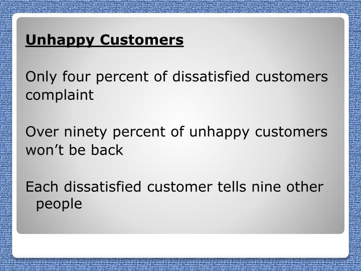 Unhappy Customers