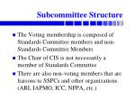 subcommittee structure
