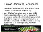 human element of performance