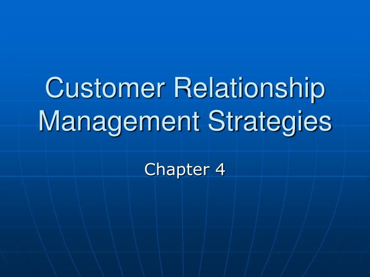 customer relationship management strategies n.