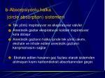 b absorpsiyonlu halka circle absorption sistemleri