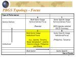 pbgs typology focus