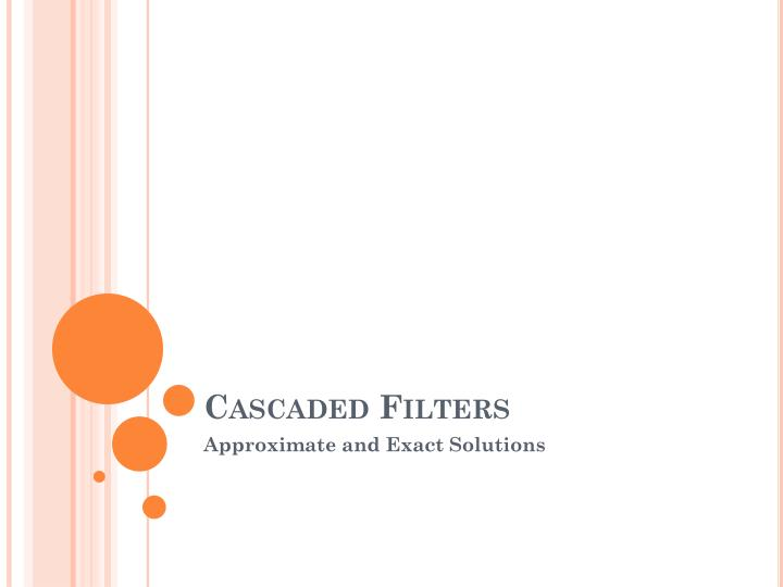 cascaded filters n.