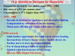 10 2 growth in demand for electricity