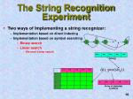 the string recognition experiment2
