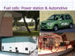 fuel cells power station automotive