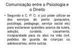 comunica o entre a psicologia e o direito
