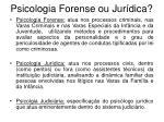 psicologia forense ou jur dica