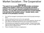 market socialism the cooperative variant