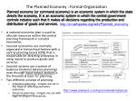 the planned economy formal organization