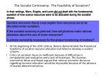 the socialist controversy the feasibility of socialism