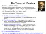 the theory of marxism