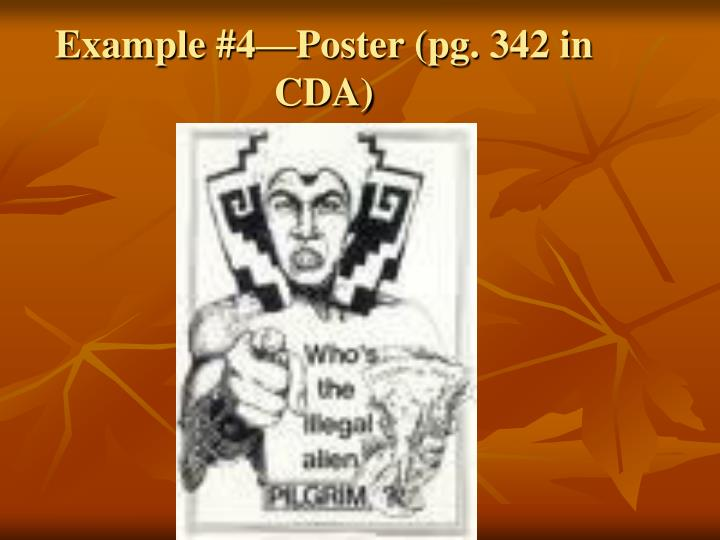 Example #4—Poster (pg. 342 in CDA)