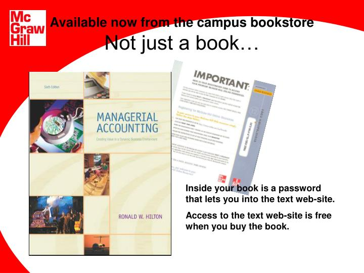 available now from the campus bookstore not just a book n.