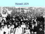 monash 1974
