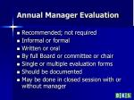 annual manager evaluation