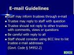 e mail guidelines