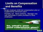 limits on compensation and benefits1